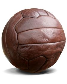 old leather soccer ball Who invented Soccer